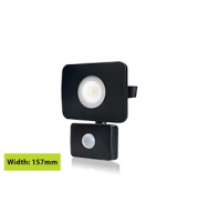 Integral Compact Tough Floodlight With Pir IP64 1800LM 20W 3000K 110B Non-dimm 90LM/W (Black)