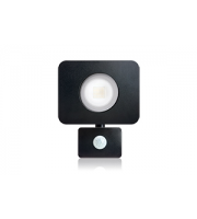 Integral Compact Tough Floodlight With Pir Override IP64 2700LM 30W 3000K 90LM/W (Black)