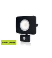 Integral Compact Tough Floodlight With Pir IP64 4500LM 50W 3000K 110B Non-dimm 90LM/W (Black)