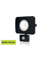 Integral Compact Tough Floodlight With Pir Override IP64 4500LM 50W 3000K (Black)
