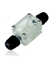 Integral IP67 Polycarbonate Connection Box, IK10, 2 Way C/w PG20 Cable Glands (Clear)