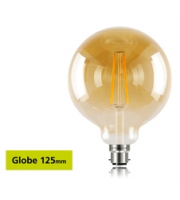 Integral Sunset Vintage Globe 125mm 2.5W B22 LED Lamp (Warm White)