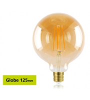 Integral Sunset Vintage Globe 125mm 5W E27 Dimmable LED Lamp (Warm White)