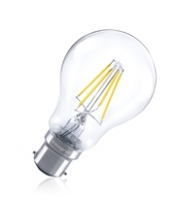 Integral Omni Filament Gls B22 1055LM 8W 2700K Dimmable 300 Beam Clear Full Glass
