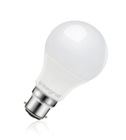 Integral Gls B22 806LM 9.5W 2700K Dimmable 240 Beam Frosted