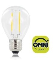 Integral Omni Filament Golf Ball E27 250LM 2W 2700K Non-dimm 330 Beam Clear