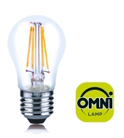 Integral E27 4W Non-Dimmable Filament LED Omni-Lamp (Warm White)