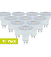 Integral 10 Pack, GU10 5.5W 3000K 440Lumens 36deg Beam Angle,