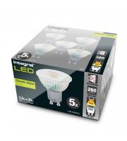 Integral 3.6W Glass GU10 LED Lamps x 5 Pack (Warm White)