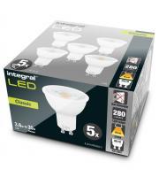 Integral 3.6W GU10 LED Lamps x 5 Pack (Warm White)