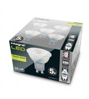 Integral 3.6W Glass GU10 LED Lamps x 5 Pack (Cool White)