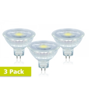Integral Glass MR16 3 Pack 5.2W 4000K Dimmable