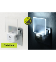 Integral Nightlight 2 Pack Uk Plug White