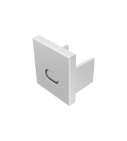 Integral PROFILE ENDCAP FOR ILPFR175, ILPFR176 (DUAL PURPOSE WITH/WITHOUT CABLE ENTRY)