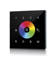 Integral Rf Wall Mount Touch Rgbw 4 Zone 100-240 Ac Input Black