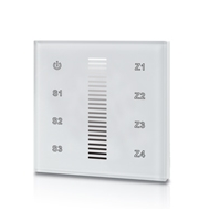 Integral Rf Wall Mount Touch Remote Single Colour 4 Zone 100-240 Ac Input White