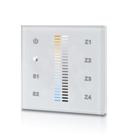 Integral Rf Wall Mount Touch Remote Colour Temperature Chnage 4 Zone 100-240 Ac Input White
