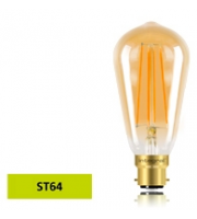 Integral ST64 B22 5W Dimmable LED Filament Lamp (Warm White)