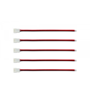 Integral Connector and Wire for 8mm LED Strips x 5 Pack (White)