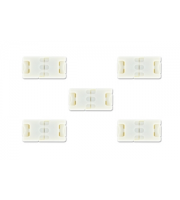 Block Connector for 8mm LED Strip x 5 Pack (White)