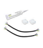 Integral IP67 Rgb Kit Pierced End Caps 2 Sets of Live Cables And Silicon Tube For IP67 12MM Width Rgb Strip