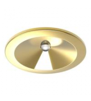 Kosnic Nitro 3W Non-Maintained Emergency LED Downlight (Brass)