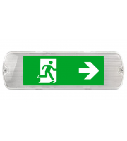 Kosnic IP65 LED Emergency Exit Sign (White)
