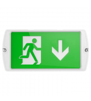 Kosnic Self-test Multi-Purpose LED Surface/Recessed Emergency Exit Sign (White)