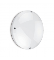 Kosnic Emergency IP65 & Vandal Proof Bulkhead For Led Dd Lamps With White Ring
