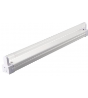 Kosnic IP20 Batten Fitting 1x2ft Glass T8 4000K,White,LED T8 Tube