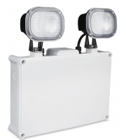 Kosnic 7W Led IP65 Non-maintained Twin-spot Emergency Lighting,Self-contained,