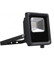 Kosnic 10w Flood Light- 120 Degree- 3000K, Black