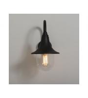 KSR Lighting Morros E27 polycarbonate Wall Lantern (Black)