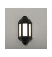 KSR Lighting Manta 10w 4000K LED Polycarbonate Half Wall Lantern (Black)