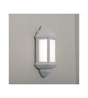 KSR Lighting Manta 10w 4000K LED Polycarbonate Half Wall Lantern (White)