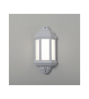 KSR Lighting Manta 10w 4000K LED PIR Polycarbonate Half Wall Lantern (White)