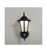 KSR Lighting Manta 7w 4000K LED PIR Polycarbonate Upward Lantern (Black)