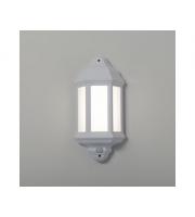 KSR Lighting Manta 10w 4000K LED Polycarbonate Half Lantern c/w Dimming Sensor (White)