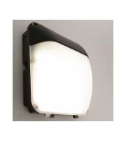 KSR Lighting Siena 30w 4000K LED Wall Pack Black with Photocell