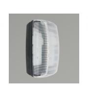 KSR Lighting Monda 7w 4000K LED Bulkhead Black with Clear Diffuser