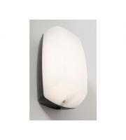 KSR Lighting Monda 7w 4000K LED Bulkhead Black with Opal Diffuser