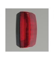 KSR Lighting Monda 7w 4000K LED Bulkhead Black with Red Diffuser