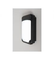 KSR Lighting Siena Slim 15w 3xCCT LED Wall Pack with Photocell Black