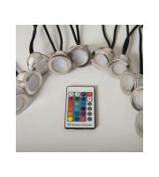 KSR Lighting Cabello 10 x 0.4W RGB LED 10 Light Decking Kit