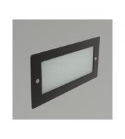 KSR Lighting Madrid 6W 3000K LED Wall Light with Plain Frame (Black)