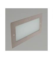 KSR Lighting Madrid 6W 4000K LED Wall Light with Plain Frame Stainless (Steel)