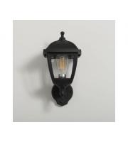 KSR Lighting Bastia E27 PIR 4 sided Lantern(Black)