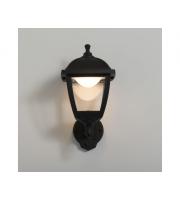 KSR Lighting Bastia 8w 3000K LED PIR 4 sided Lantern Black