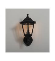 KSR Lighting Bastia E27 PIR 6 sided Lantern (Black)