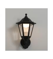 KSR Lighting Bastia 8w 3000K LED 6 sided Lantern Black